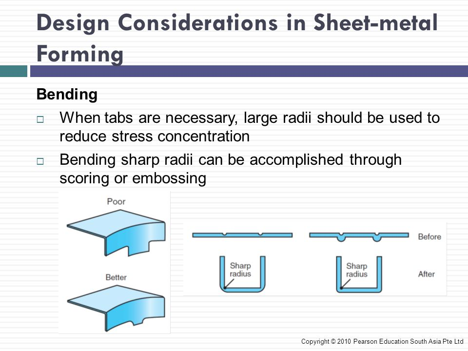 Design Considerations in Sheet-metal Forming