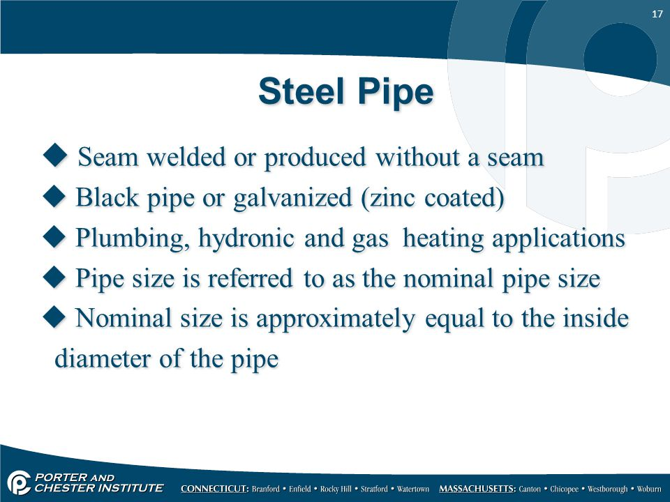 Steel Pipe Seam welded or produced without a seam