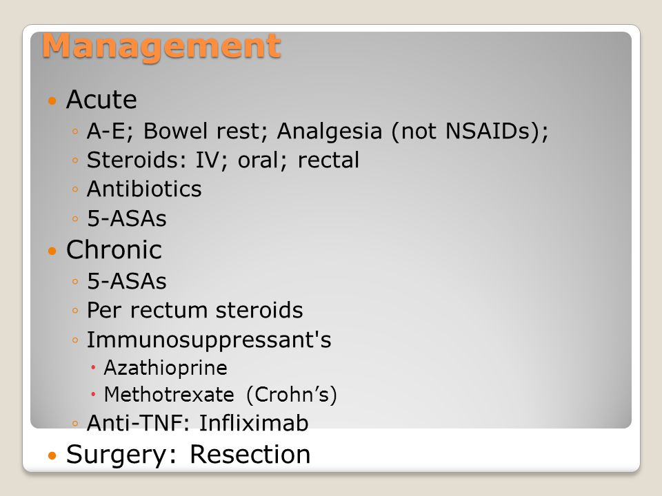 Management Acute Chronic Surgery: Resection