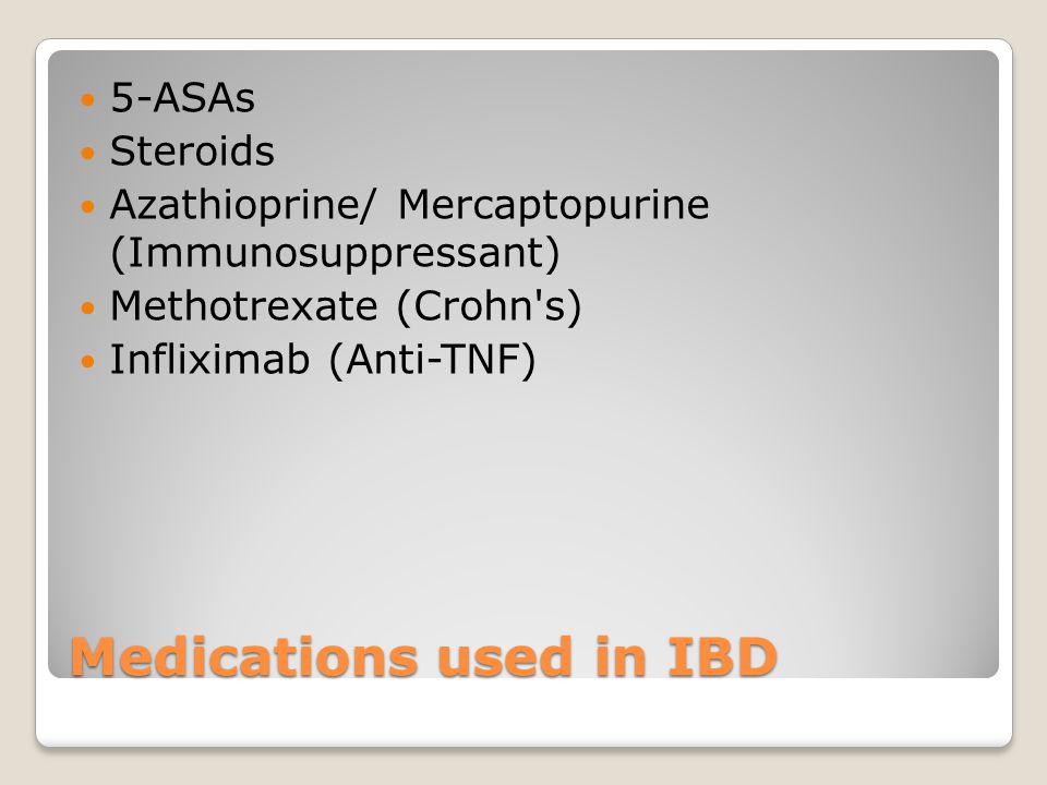 Medications used in IBD