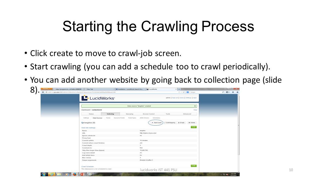 Starting the Crawling Process