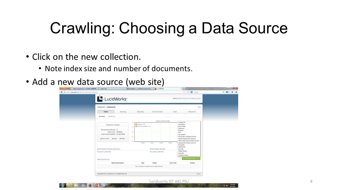 Crawling: Choosing a Data Source