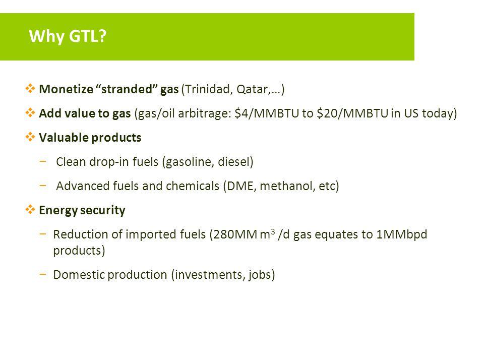 Why GTL Monetize stranded gas (Trinidad, Qatar,…)