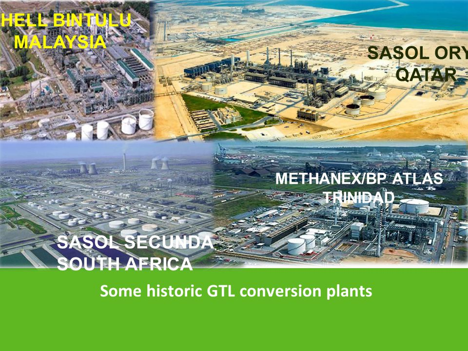 Some historic GTL conversion plants