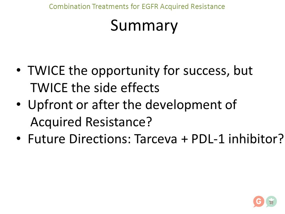Combination Treatments for EGFR Acquired Resistance