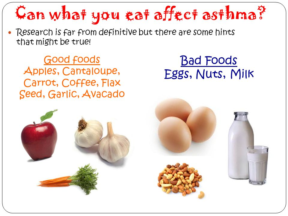 Can what you eat affect asthma