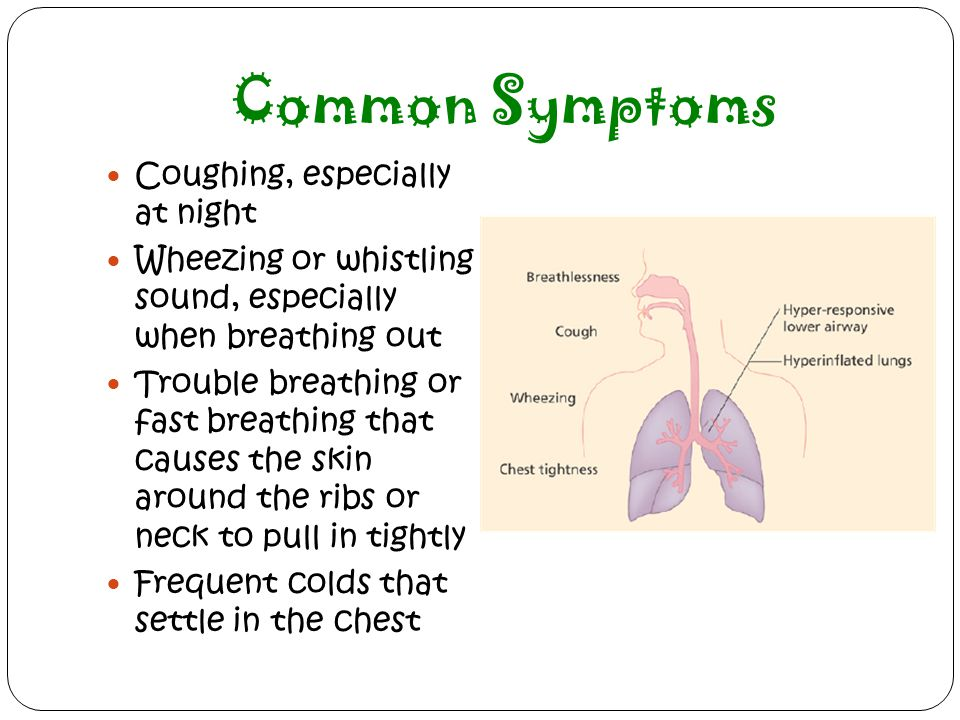 Common Symptoms Coughing, especially at night
