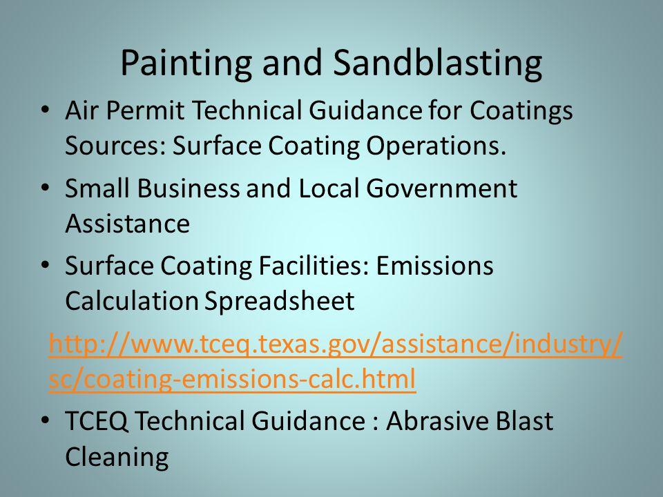Painting and Sandblasting