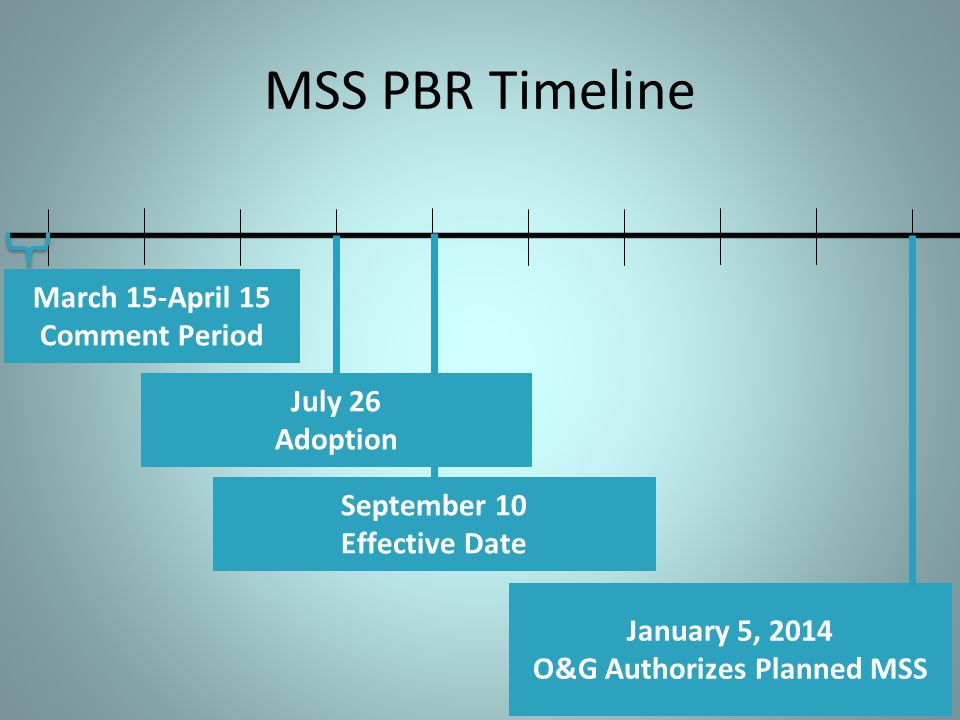 March 15-April 15 Comment Period O&G Authorizes Planned MSS