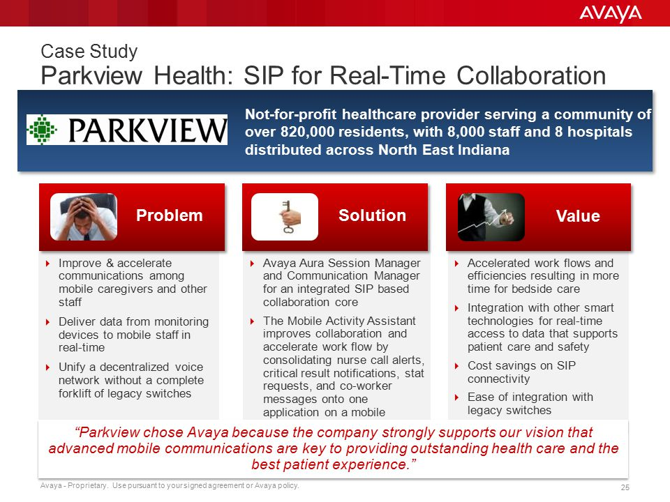 Case Study Parkview Health: SIP for Real-Time Collaboration