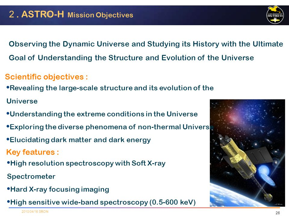 2. ASTRO-H Mission Objectives