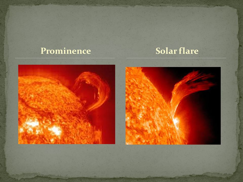 Prominence Solar flare