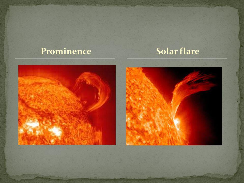 Prominence Solar flare