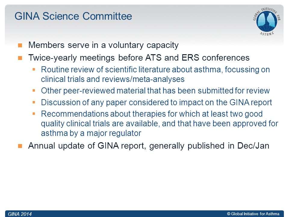GINA Science Committee