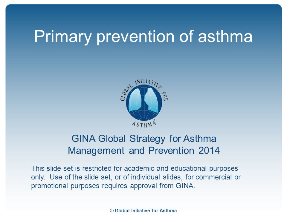 Primary prevention of asthma