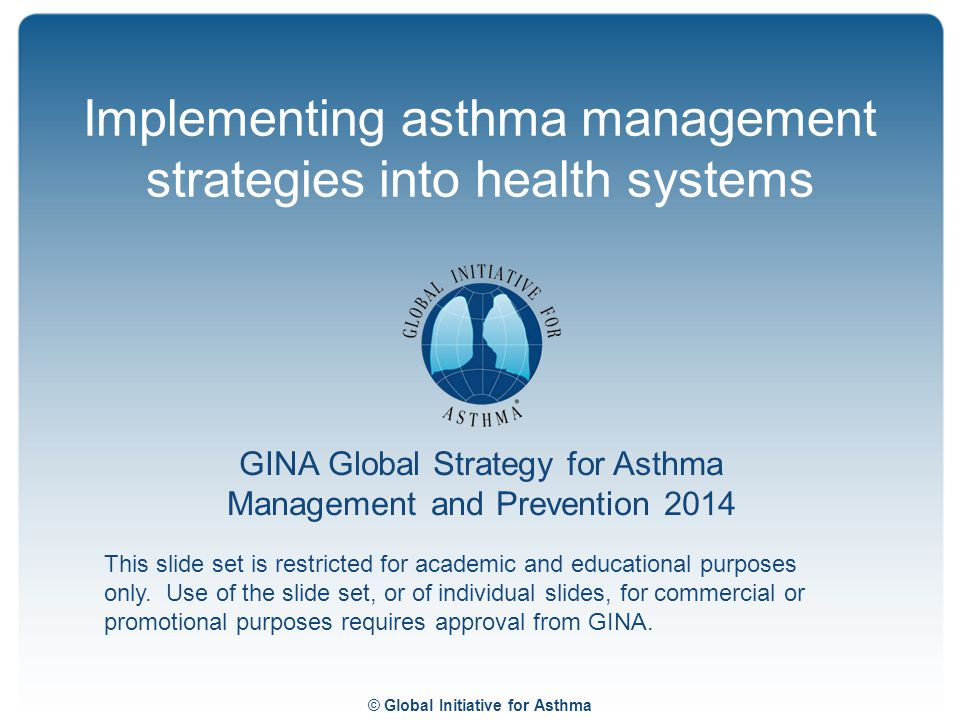 Implementing asthma management strategies into health systems