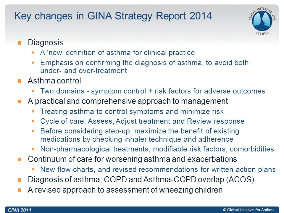 Key changes in GINA Strategy Report 2014