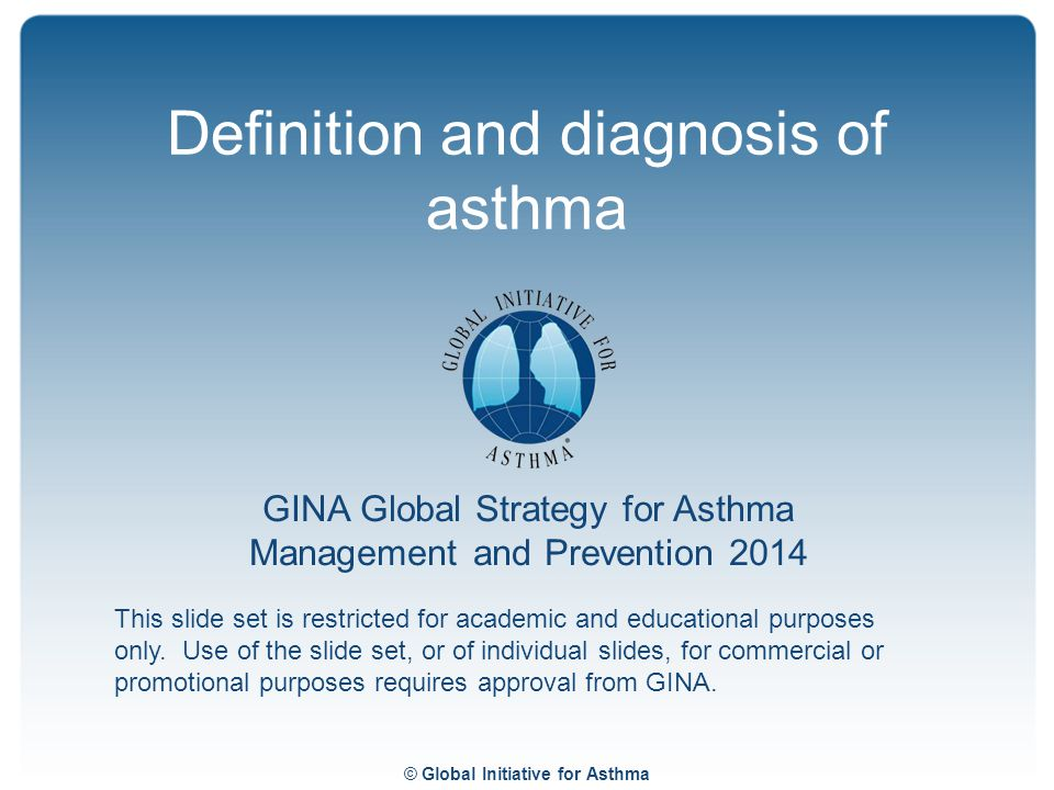 Definition and diagnosis of asthma