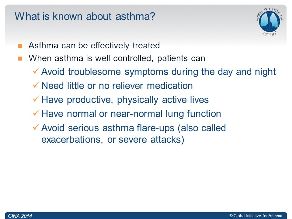 What is known about asthma