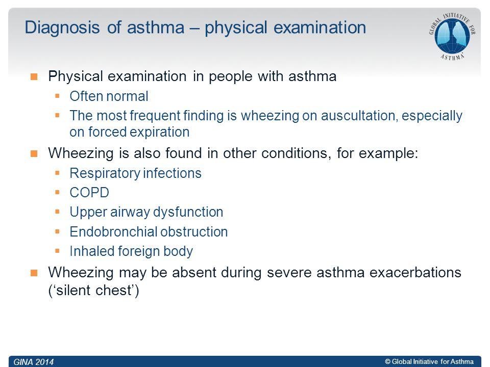 Diagnosis of asthma – physical examination