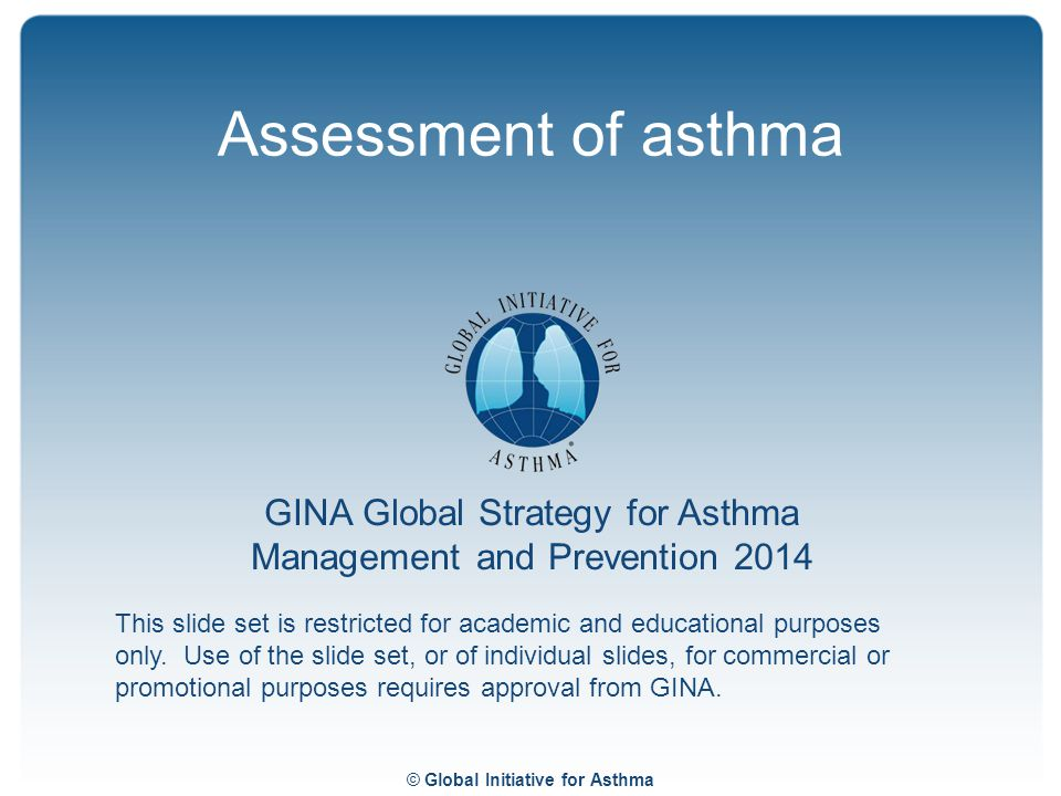 Assessment of asthma