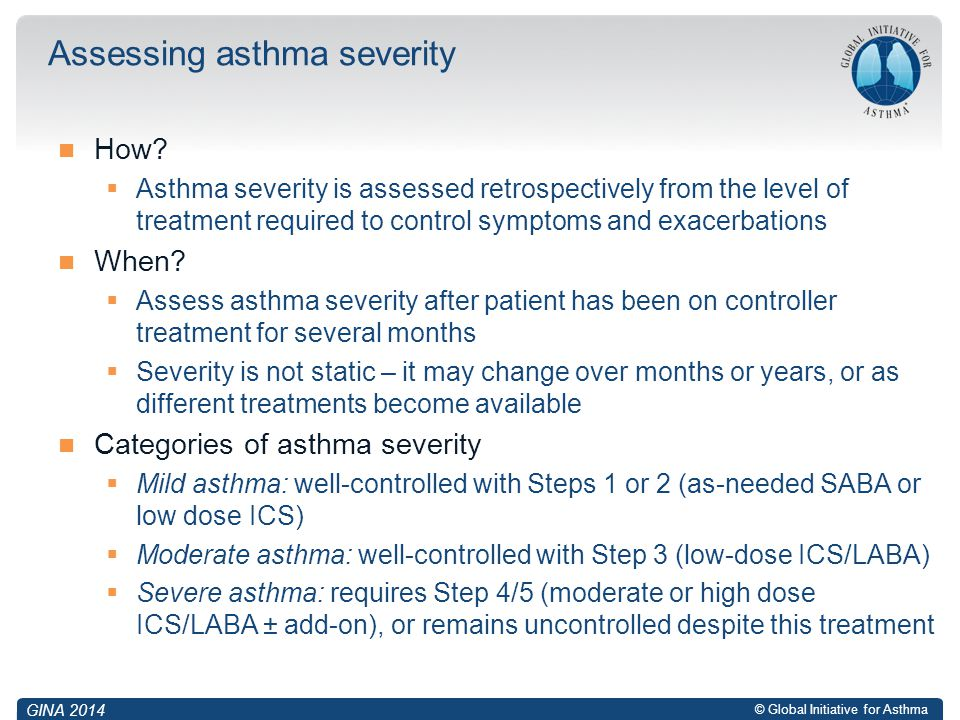 Assessing asthma severity