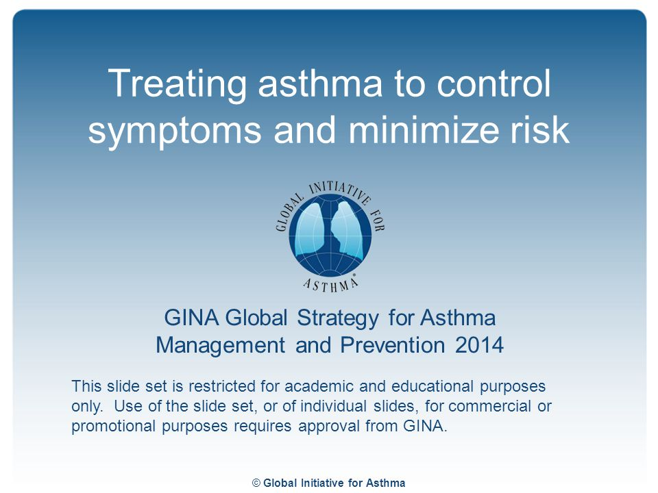 Treating asthma to control symptoms and minimize risk