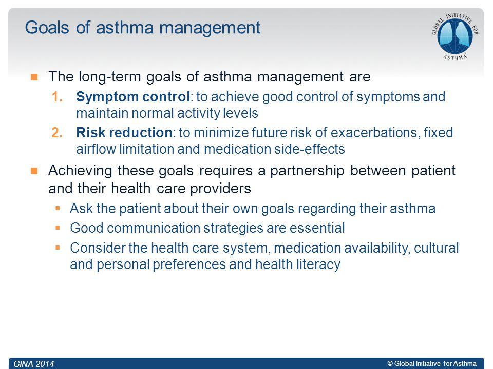 Goals of asthma management