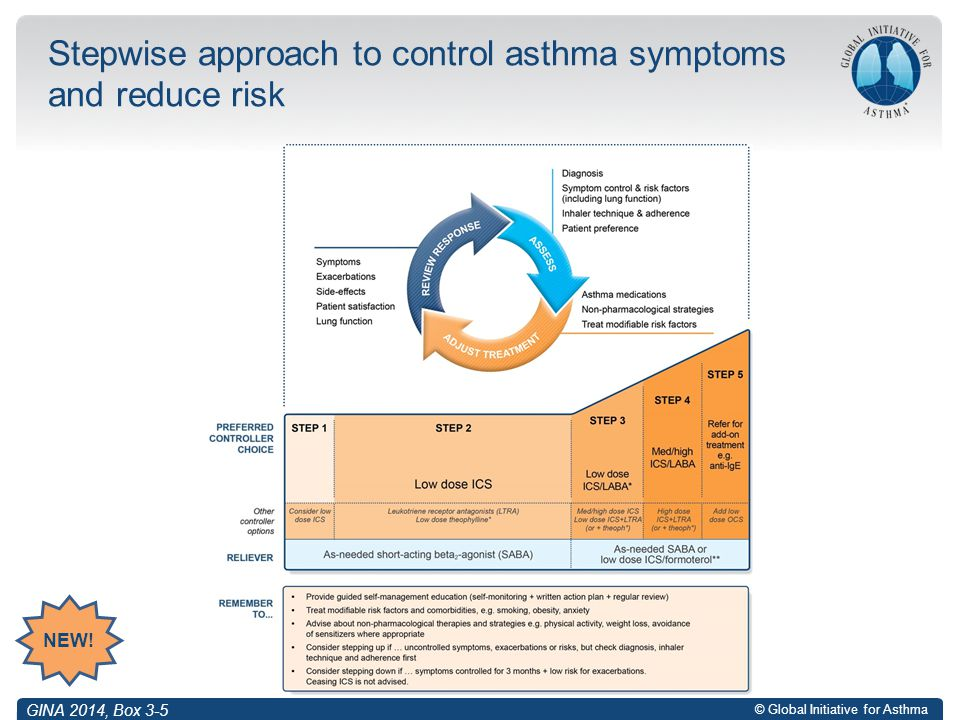 Stepwise approach to control asthma symptoms and reduce risk