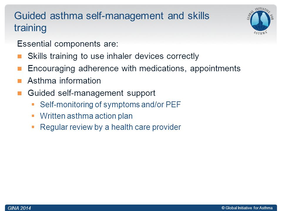 Guided asthma self-management and skills training