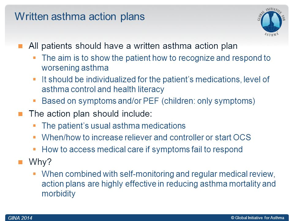 Written asthma action plans