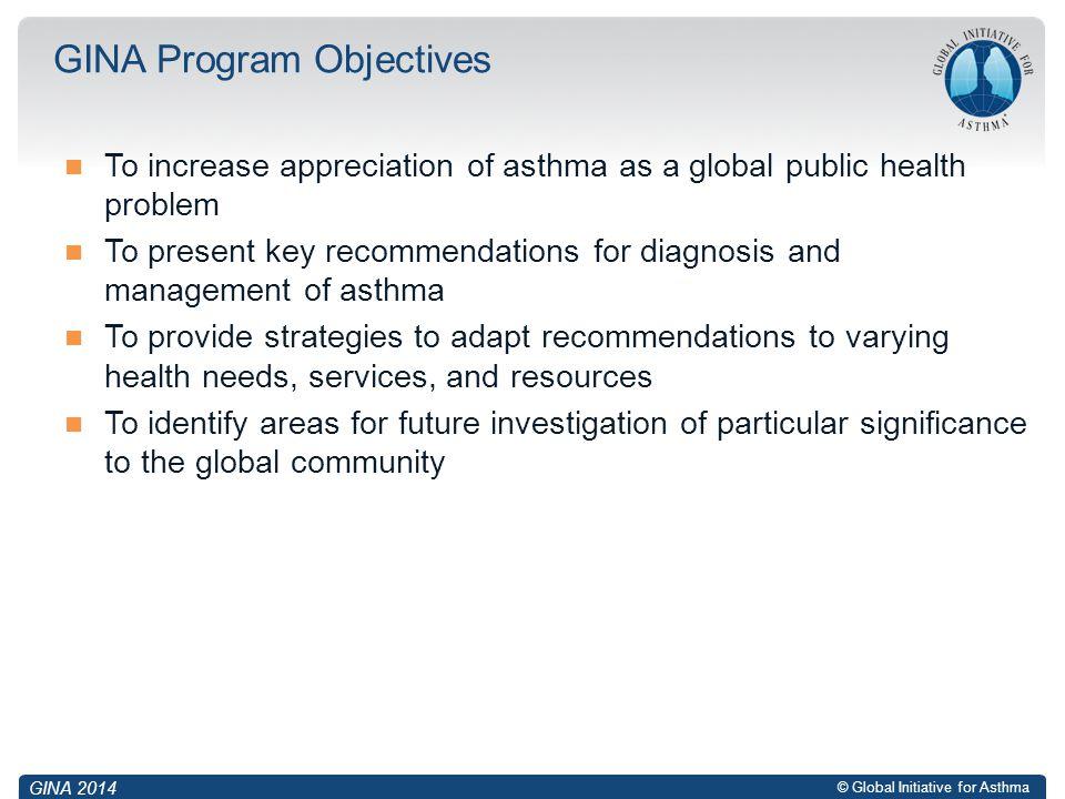 GINA Program Objectives
