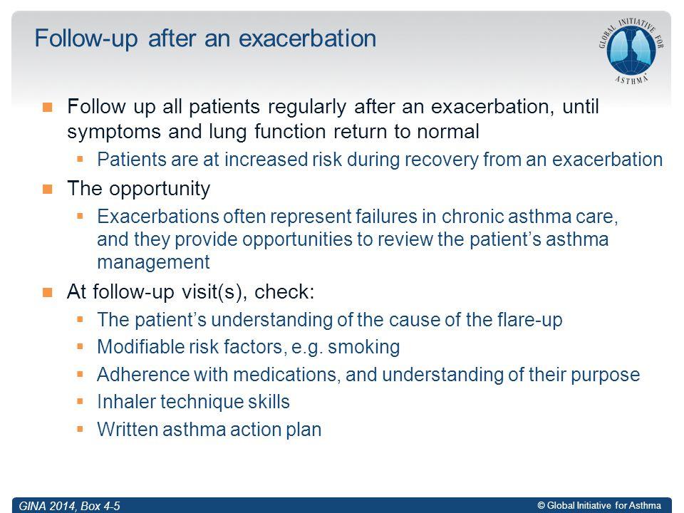 Follow-up after an exacerbation