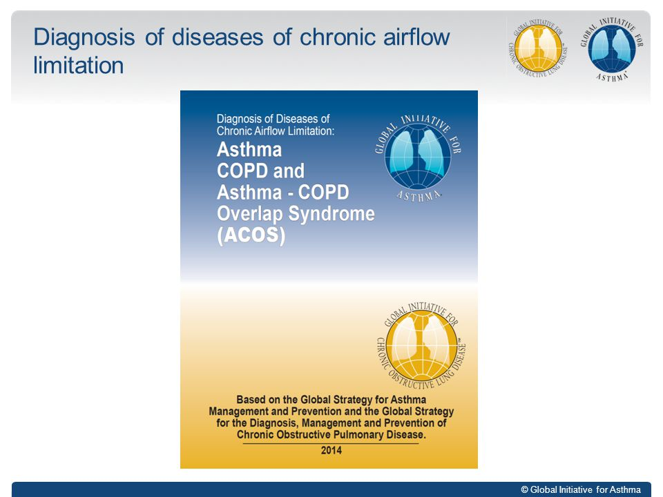 Diagnosis of diseases of chronic airflow limitation