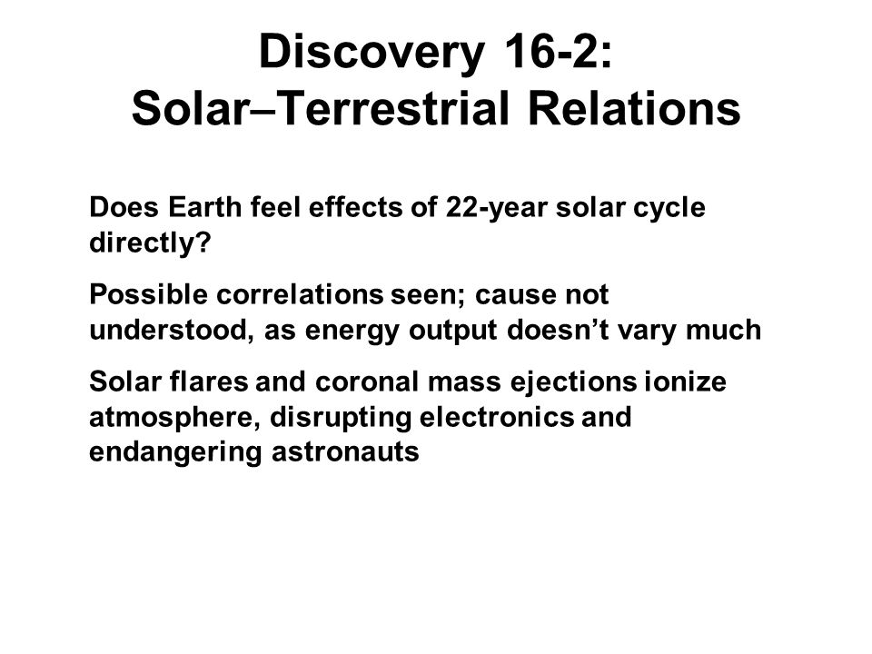 Discovery 16-2: Solar–Terrestrial Relations