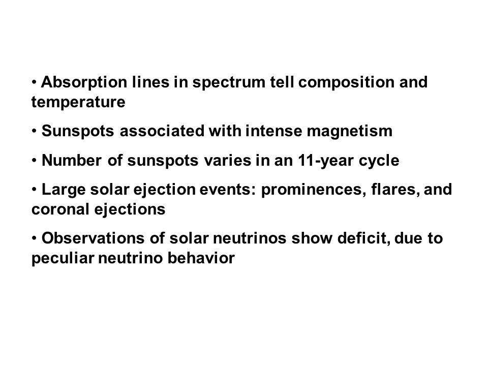 Absorption lines in spectrum tell composition and temperature