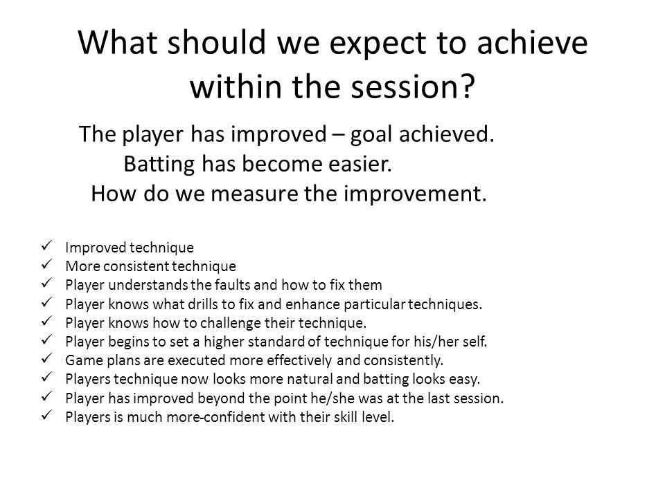 What should we expect to achieve within the session