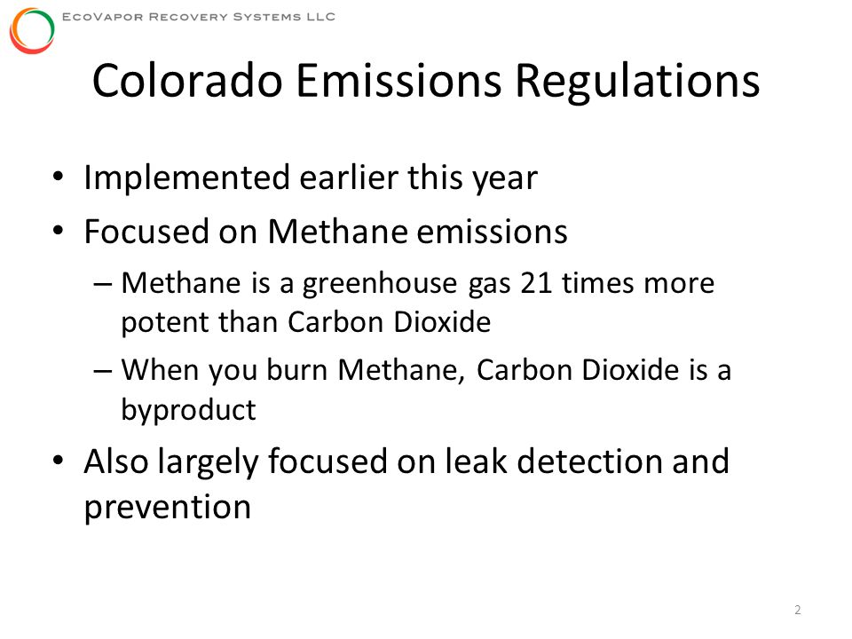Colorado Emissions Regulations