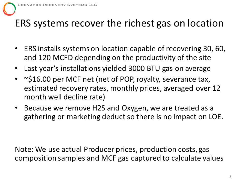 ERS systems recover the richest gas on location
