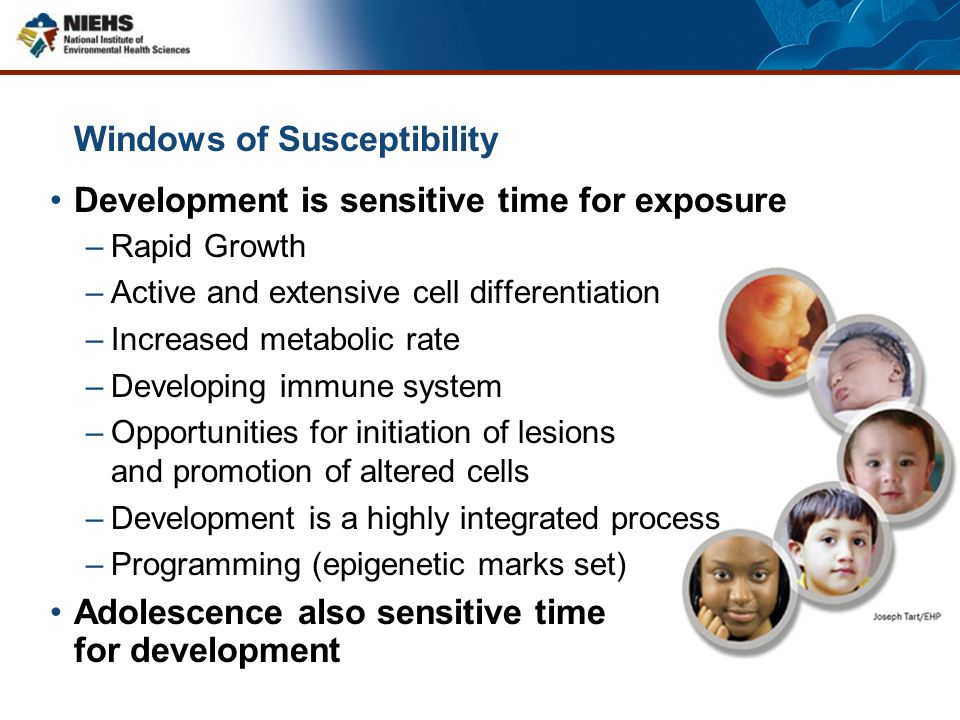 Windows of Susceptibility