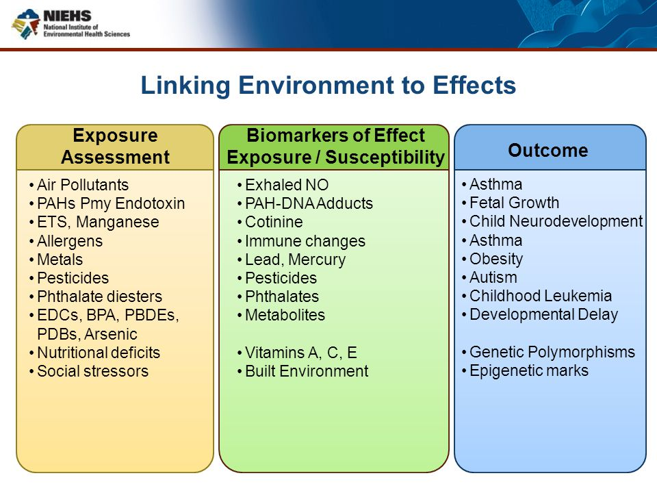 Linking Environment to Effects