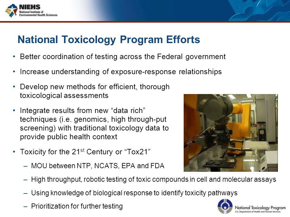 National Toxicology Program Efforts
