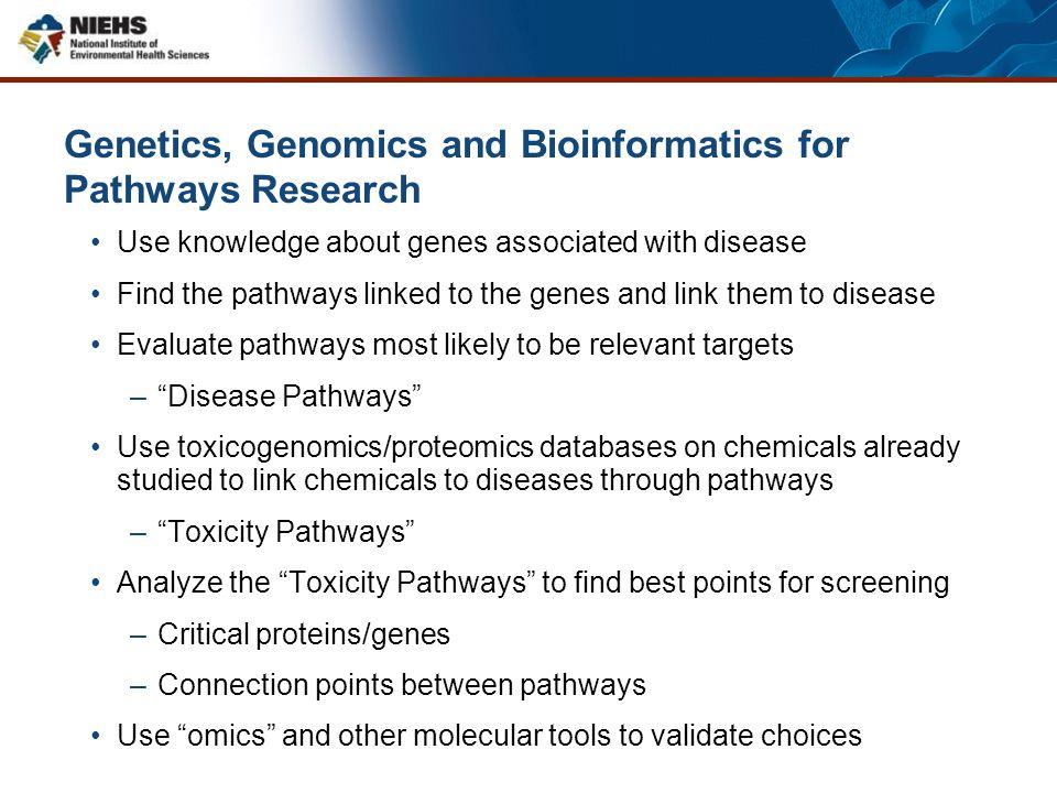 Genetics, Genomics and Bioinformatics for Pathways Research