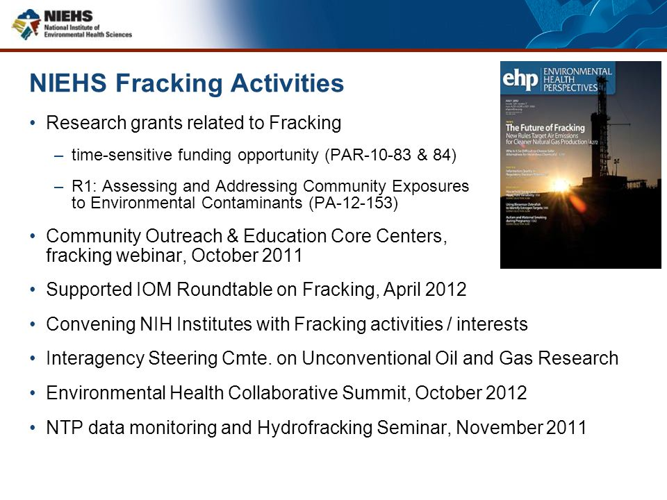 NIEHS Fracking Activities