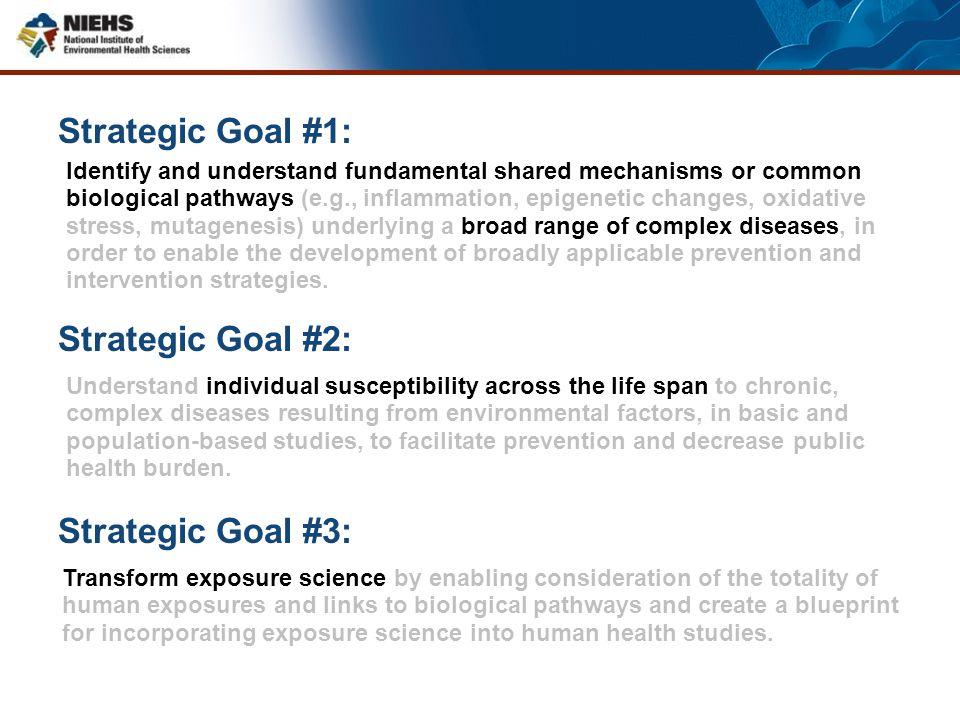 Strategic Goal #1: Strategic Goal #2: Strategic Goal #3: