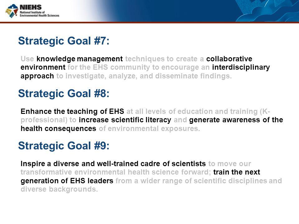 Strategic Goal #7: Strategic Goal #8: Strategic Goal #9: