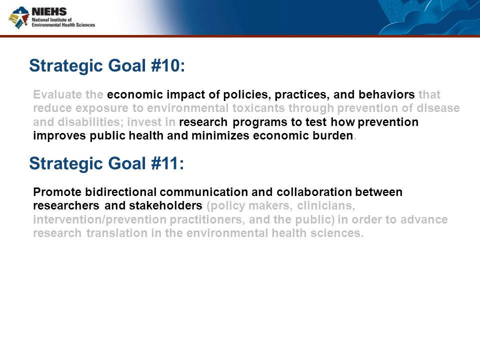 Strategic Goal #10: Strategic Goal #11: