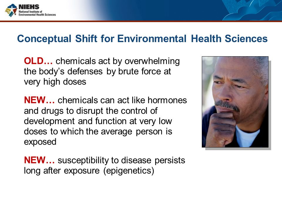 Conceptual Shift for Environmental Health Sciences