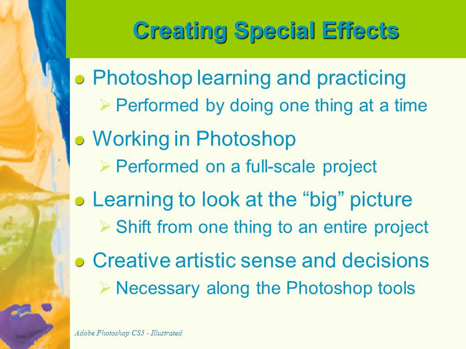 Creating Special Effects