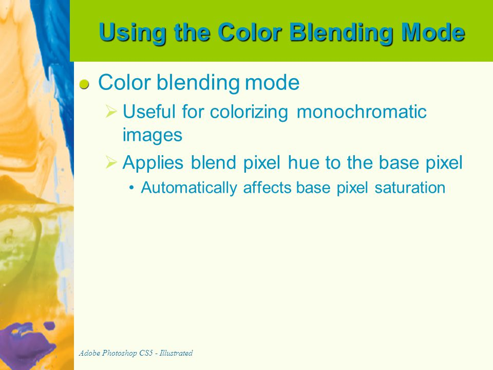 Using the Color Blending Mode